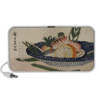 Old Japanese Sushi Painting Laptop Speakers