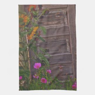 Old Kitchen Door Kitchen Towel Western Flowers