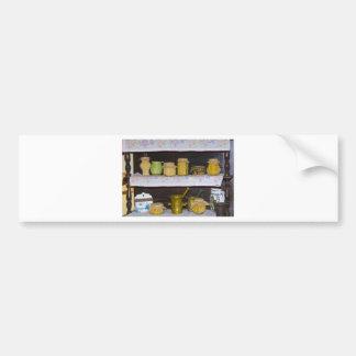 old kitchen shelf bumper stickers