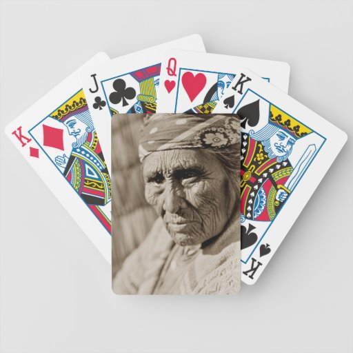 Old Klamath woman Native American Woman Deck Of Cards