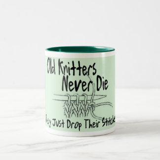 Old Knitters Two-Tone Coffee Mug