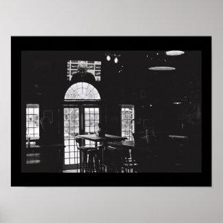 Old Kodak Film BNW Noir Windows Bar Bear A3 Poster