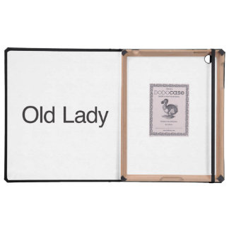 Old Lady iPad Cases
