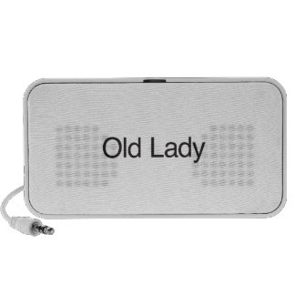 Old Lady Notebook Speakers