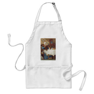 Old Lady with A Cat Apron