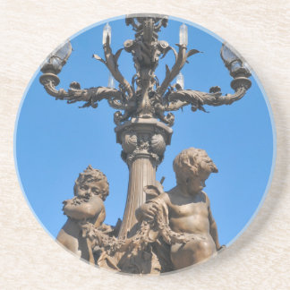 Old lamppost in Paris, France Coasters