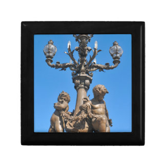 Old lamppost in Paris, France Small Square Gift Box