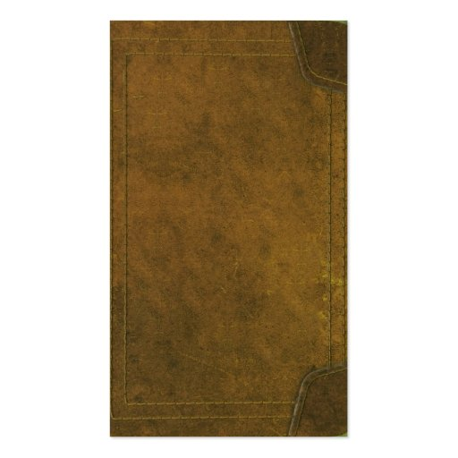 old leather book cover Double-Sided standard business cards (Pack of 100)