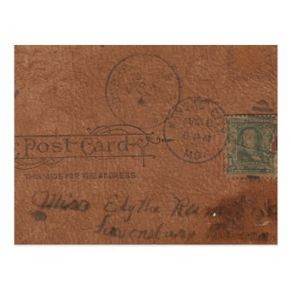 Old Leather Postcard Back