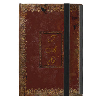 Old Leather Victorian Style Book Cover iPad Mini Cover