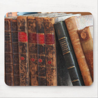 """""""Old Library Books"""" Mousepad"""