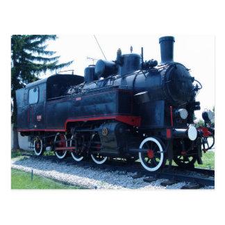 Old locomotive postcard