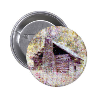 Old Log Cabin Button