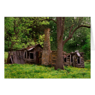 Old Log Cabin Note Card