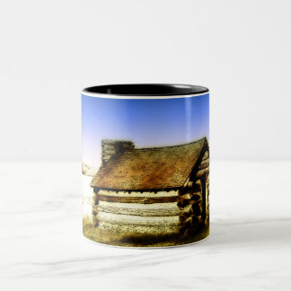 Old Log Cabin Coffee Mugs