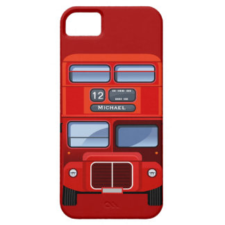 Old London Red Double Decker Bus iPhone 5 Cases