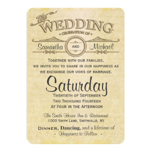 old love letter wedding invitation
