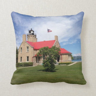 Old Mackinac Point Lighthouse Bridge Cushion