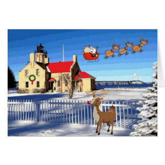 Old Mackinac Point Lighthouse Christmas Card