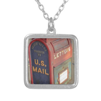 Old Mailbox Silver Plated Necklace