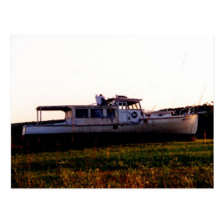 Old Maine Fishing Boat Postcard