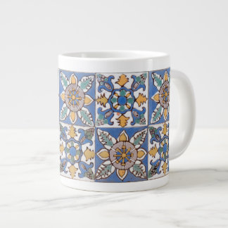 Old Majolica Wall Tiles Pattern painted by hand Large Coffee Mug