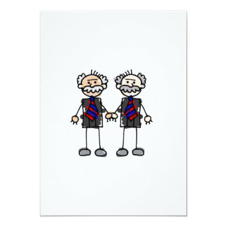 Old Male Lovers 13 Cm X 18 Cm Invitation Card