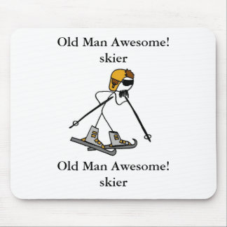 Old Man Awesome! skier Mouse Pad