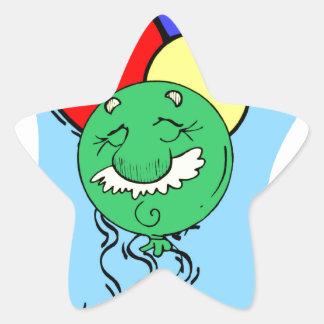 Old Man Birthday Star Stickers