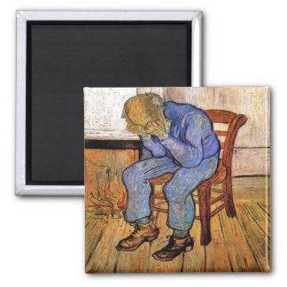 Old Man in Sorrow by Vincent van Gogh 1890 Magnet