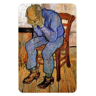 Old Man in Sorrow by Vincent van Gogh 1890 Vinyl Magnets