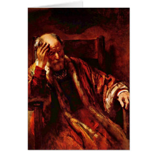Old Man In The Armchair By Rembrandt Van Rijn Card
