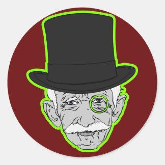 Old Man Manopoly Classic Round Sticker