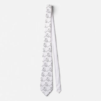 Old Man Or Young Lady Optical Illusion Tie