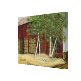 "Old Man Walker's Barn (23.22"" x 18"" x 1.5"") Canvas Print"
