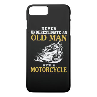 OLD MAN WITH A MOTORCYCLE iPhone 7 PLUS CASE