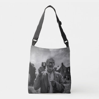 Old man with radio - bag