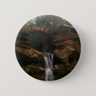 Old Mans Cave Upper Falls Ohio 6 Cm Round Badge