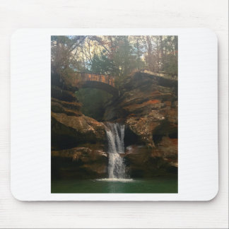 Old Mans Cave Upper Falls Ohio Mouse Pad