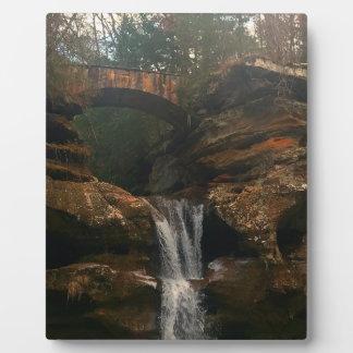 Old Mans Cave Upper Falls Ohio Plaque