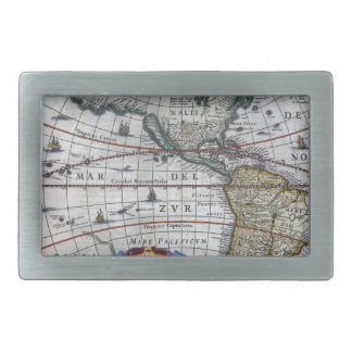 old map Americas Belt Buckles