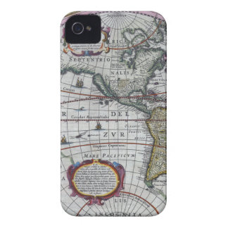 old map Americas iPhone 4 Case-Mate Cases