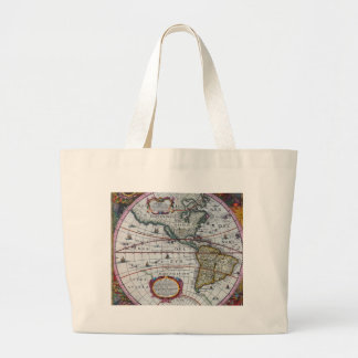 old map Americas Large Tote Bag