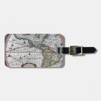 old map Americas Luggage Tag