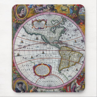 old map Americas Mouse Pad