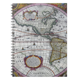 old map Americas Notebook