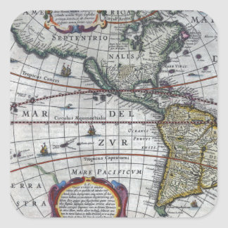 old map Americas Square Sticker