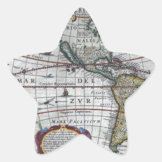 old map Americas Star Sticker