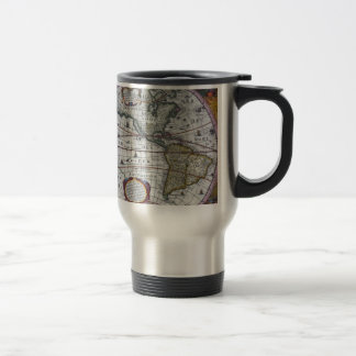 old map Americas Travel Mug