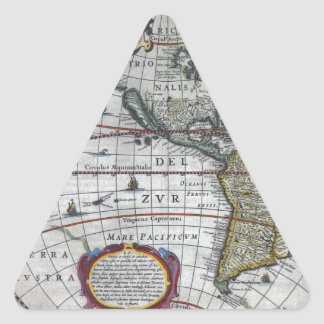 old map Americas Triangle Sticker